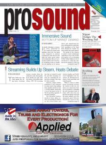 The article originally appeared in the December 2014 issue of Pro Sound News.