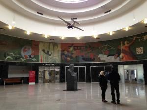 LaGuardia Airport's marine Air Terminal lobby.