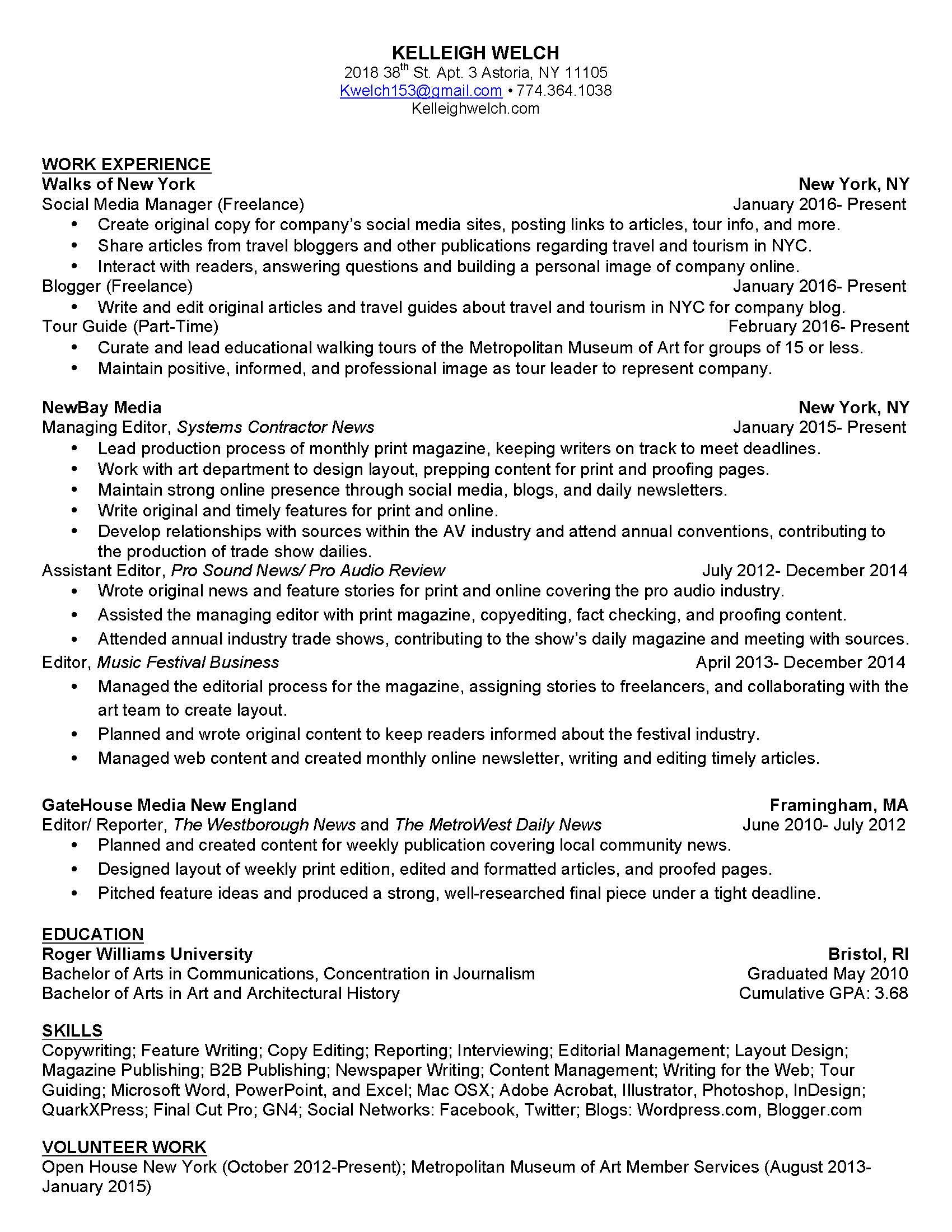 associate editor resume